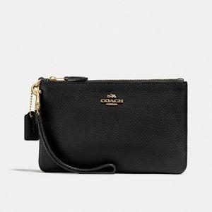 Black Coach wristlet wallet NWT